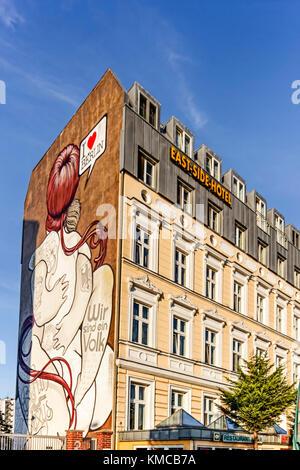 East Side Hotel in Friedrichshain near East side Gallery, Berlin, Germany