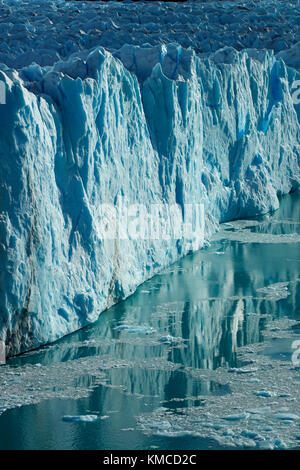 Terminal face of Perito Moreno Glacier, and Lago Argentino, Parque Nacional Los Glaciares (World Heritage Area), - Stock Photo