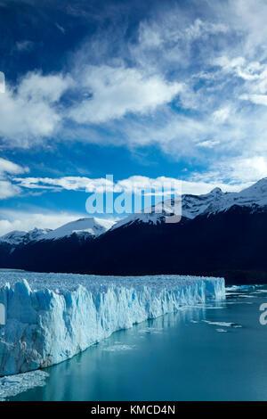 Terminal face of Perito Moreno Glacier, and Lago Argentino, Parque Nacional Los Glaciares (World Heritage Area), - Stock Photo