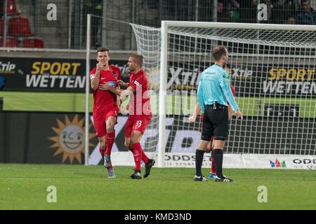1:0 durch Mathias Wittek #05 (1. FC Heidenheim 1846),  1.FC Heidenheim 1846 vs 1.FC Kaiserslautern,  Herren, Fussball, - Stock Photo