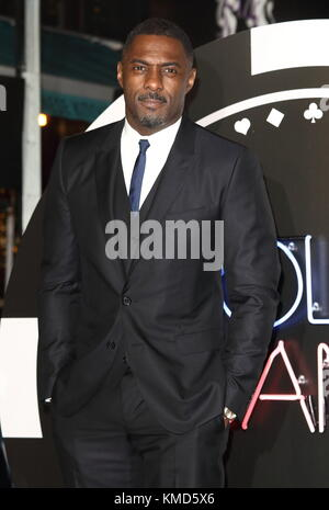 London, UK. 06th Dec, 2017. Idris Elba at the Molly's Game UK Film Premiere at the Vue West End, Leicester Square, - Stock Photo