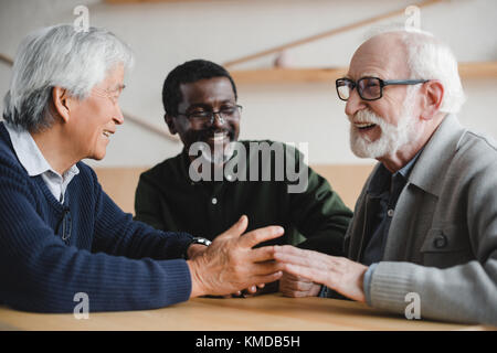 senior friends spending time together - Stock Photo