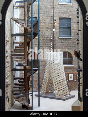 Overall view of installation as part of London Design Festival at Victoria and Albert Museum. While We Wait, London, - Stock Photo
