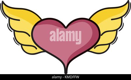 Heart With Wings Stock Photo 118743590 Alamy
