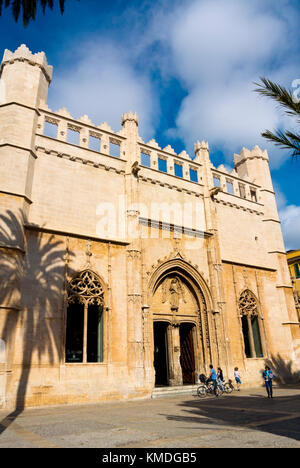 Llotja de Palma, former medieval market place, Palma, Mallorca, Balearic islands, Spain - Stock Photo
