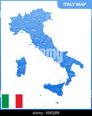 The Detailed Map Of The Italy With Regions Or States And Cities - Italy map with cities