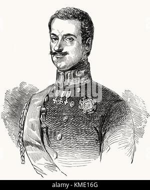Charles Albert, 1798 –1849, King of Sardinia - Stock Photo