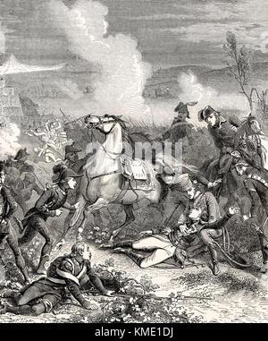 The death of Louis Charles Antoine Desaix, Battle of Marengo, 14 June 1800 - Stock Photo