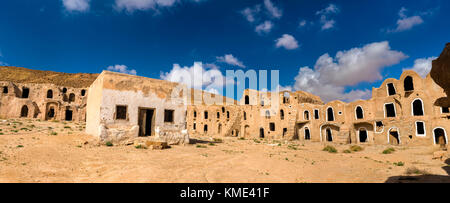 Ksar Ouled Mhemed at Ksour Jlidet village, South Tunisia - Stock Photo