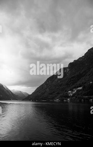 Odda is a municipality in Hordaland county, Norway. - Stock Photo