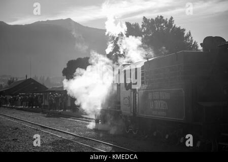 Old Steam Train Locomotive La Trochita Stopped In The Station Of The Stock Photo 8710927 Alamy
