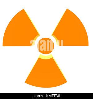 3D bio hazard symbol on a white background - Stock Photo