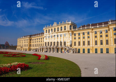 The famous Schonbrunn Palace Vienna in Austria, Europe. - Stock Photo