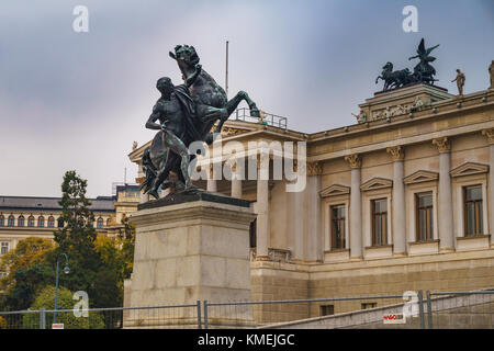 Urban street photography at the Austrian Parliament building in Vienna Vienna, Austria, Europe. - Stock Photo