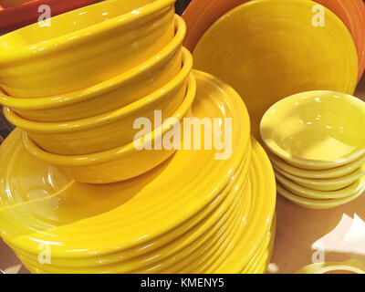 Fiesta Ware at Macy's Department Store, Herald Square, NYC - Stock Photo