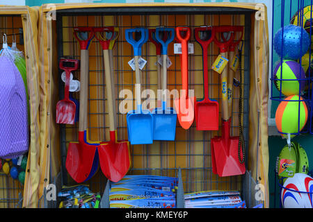 Seaside shop display in Aberaeron, Ceredigion, Wales, UK - Stock Photo