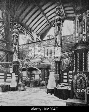 Hungary Pavilion, Universal Exhibition 1900 in Paris, Picture from the French weekly newspaper l'Illustration, 21th - Stock Photo