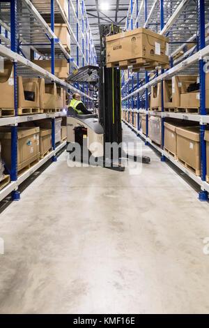 Romulus, Michigan - A Mopar auto parts distribution center. Mopar is the auto parts operation of Fiat Chrysler Automobiles. - Stock Photo