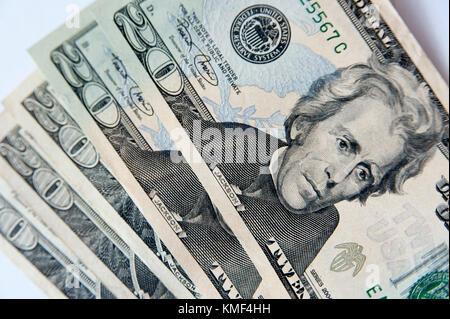 The United States twenty-dollar bill ($20) with Andrew Jackson © Wojciech Strozyk / Alamy Stock Photo - Stock Photo