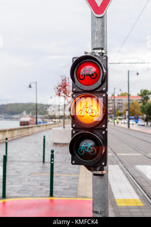 Traffic light for cyclists. - Stock Photo