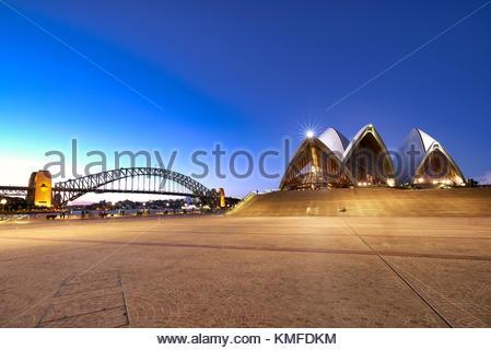 The Opera House of Sydney, New South Wales, Australia - Stock Photo