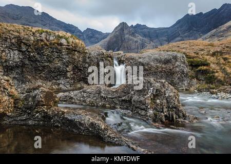 Fairy Pools of Skye in Scotland - Stock Photo
