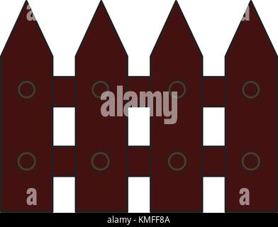 fence wooden section icon image  - Stock Photo