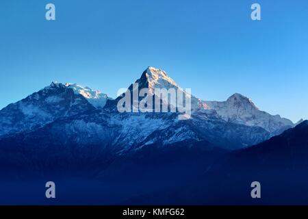 Himalayas seen from Poon Hill, Nepal - Stock Photo