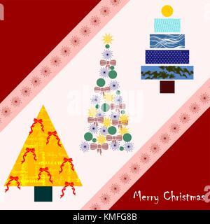Christmas fir trees - Stock Photo