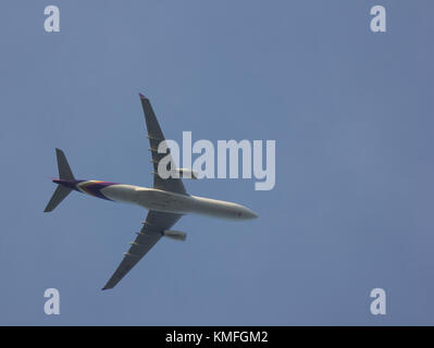CHIANG MAI, THAILAND -NOVEMBER 30 2017: HS-TEP Airbus A330-300 of Thai Airway. Take off from Chiangmai airport to - Stock Photo
