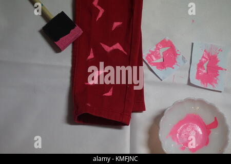 DIY project paint pants - Stock Photo