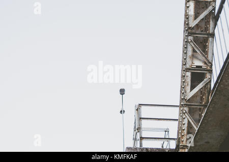 Dynamic railway bridge closeup. - Stock Photo
