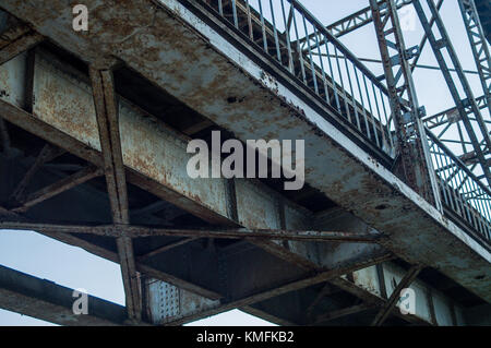 Rusty railway bridge. II - Stock Photo