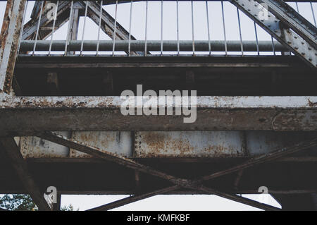 railway bridge. Linear composition. - Stock Photo