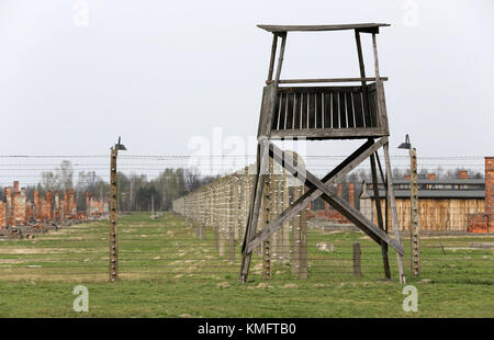 Auschwitz II Birkenau. Poland. The biggest nazi concentration camp in Europe and now the State Museum Auschwitz - Stock Photo