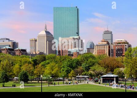 Back Bay skyline from Boston Common
