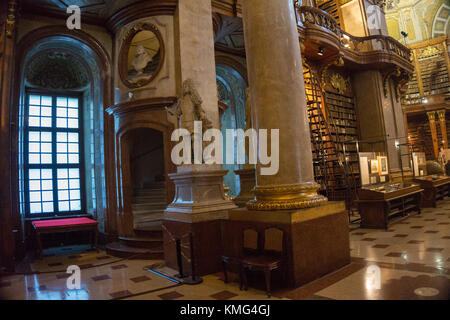 Interior of the Austrian National public Library in Vienna, Austria, Europe - Stock Photo