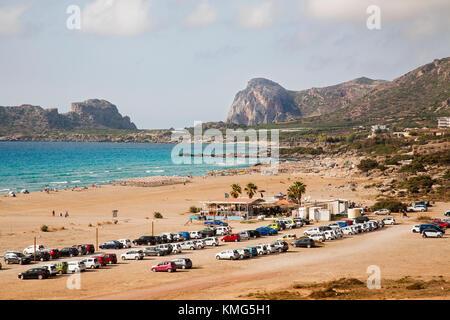 Falasarna beach, Crete island, Greece, Europe - Stock Photo