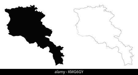 Armenia outline map - Stock Photo