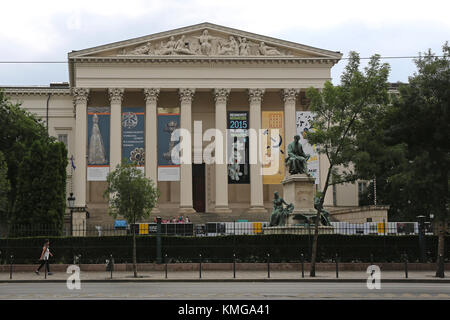 BUDAPEST, HUNGARY - JULY 13, 2015: The Hungarian National Museum Building in Budapest, Hungary. - Stock Photo