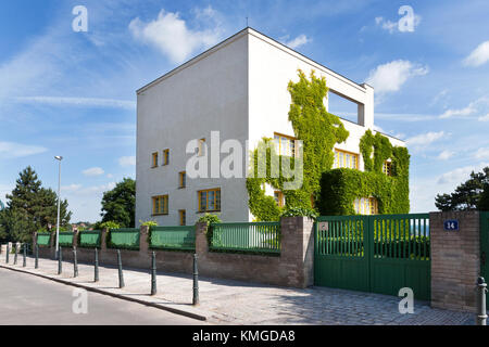 famous functionalistic Loos (Mueller) villa - national cultural landmark, designed in 1930 by architect Adolf Loos, - Stock Photo