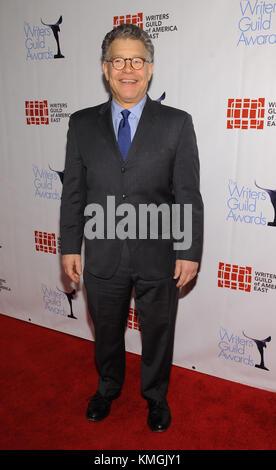 New York, NY, USA. 13th Feb, 2017. Senator Al Franken attends the 2016 Writers Guild Awards New York ceremony at - Stock Photo