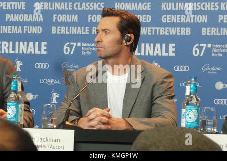 "(67.Berlinale) International Berlin Film Festival. Press-Conference ""LOGAN"", Featuring: Hugh Jackman Where: Berlin - Stock Photo"