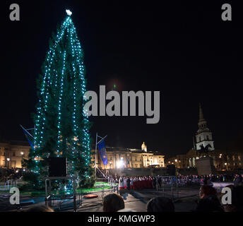Trafalgar Square London UK. 7 December 2017. The lighting ceremony takes & Christmas tree lighting ceremony in Clinton Square Syracuse New ... azcodes.com