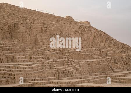 huaca pucllana or huaca juliana a huge adobe and clay pyramid in