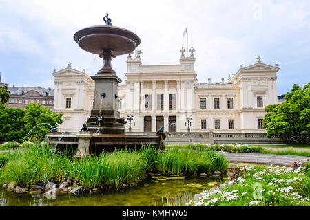 Lund, Sweden, July 23, 2017: Lund University is one of Europe's oldest, largest and most prestigious universities - Stock Photo