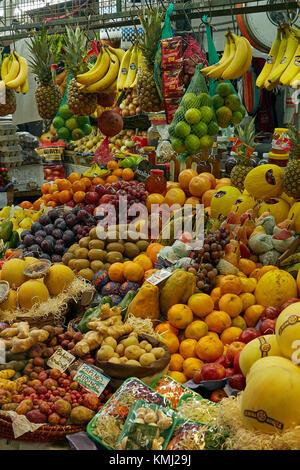 Produce stall, San Telmo Market, San Telmo, Buenos Aires, Argentina, South America - Stock Photo