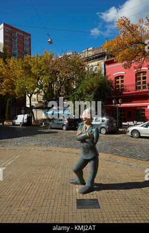 Isidoro Canones cartoon character, Avenida Chile, San Telmo, Buenos Aires, Argentina, South America - Stock Photo