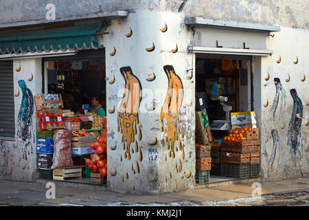Fruit and vegetable shop, San Telmo, Buenos Aires, Argentina, South America - Stock Photo
