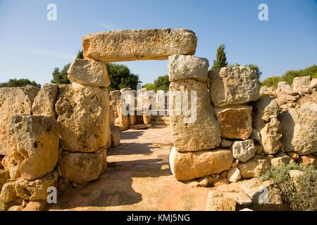 Binaparratxet Petit. Archeologic site from about 9th century B. C. Mahon airport. Situated at the south departure - Stock Photo
